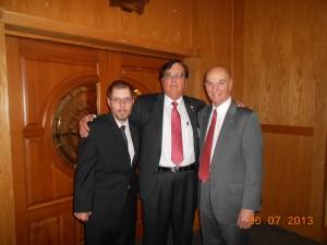 Patrick Conboy, Mario Antonacci and Sam Bonfonte