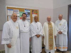 Deacon Tom Gibbons, Ordained Acolyte Jim Jones, Ordained Acolyte Nick Ardito, Fr. Joe Goode, and Deacon Bob Head