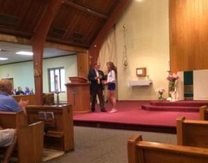 PGK Lou Monteforte presents check to Kylene