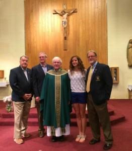 Tom, Mike, Fr. Joe, Kylene, Lou
