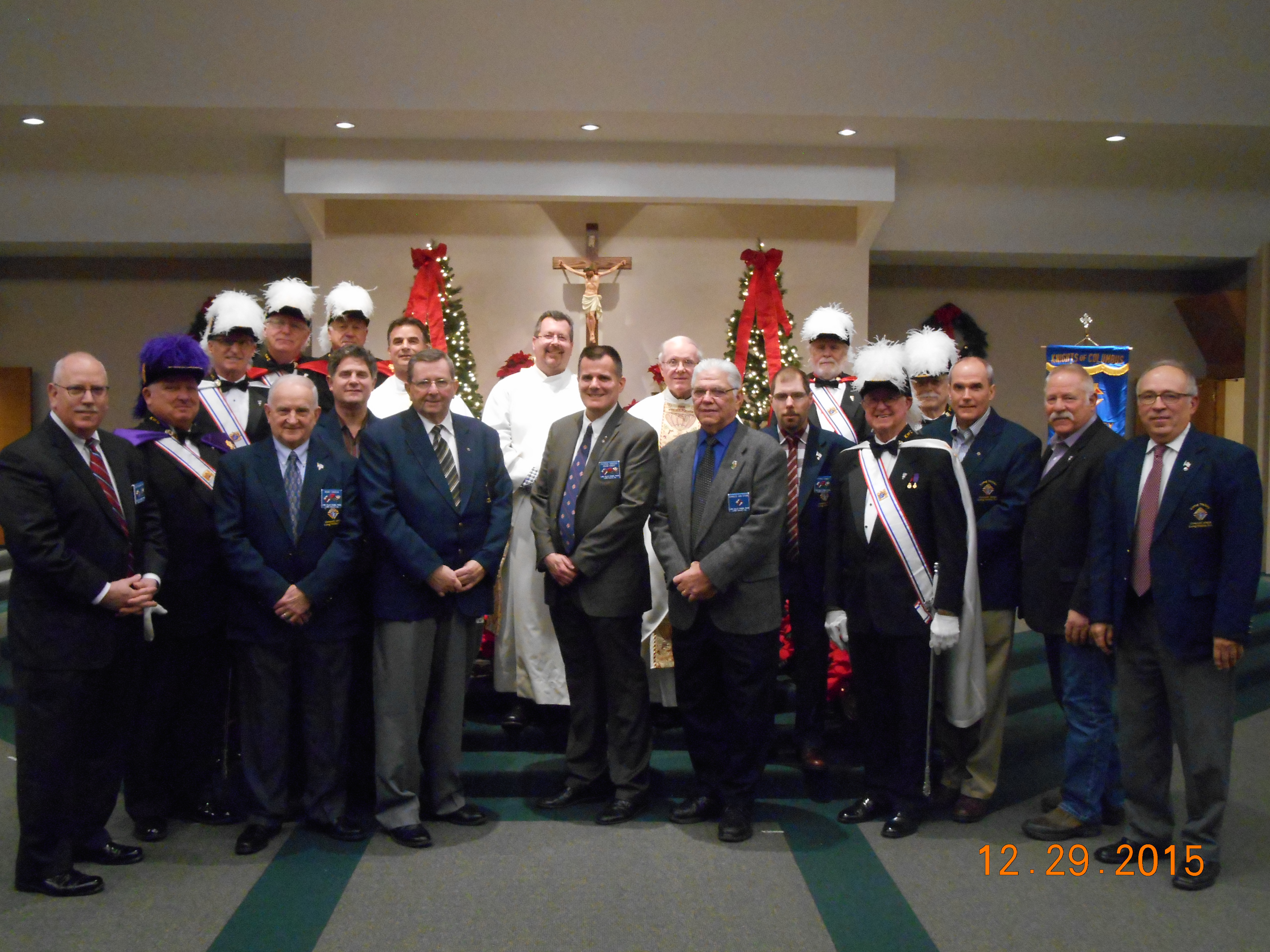 Long Valley Knights of Columbus 2015 Christmas Party and 25th